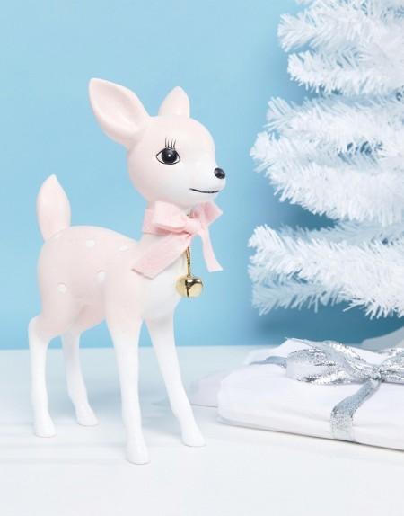 Paperchase - Glitzernde Weihnachtsdeko mit Hirsch-Design - Mehrfarbig