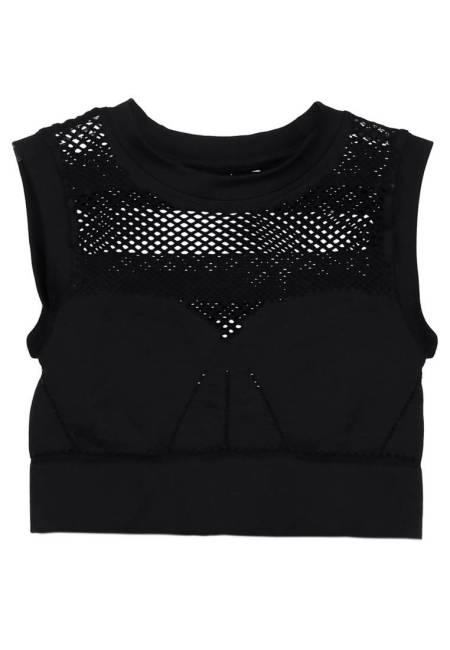 Ivy Park: NET CROP - Top - black