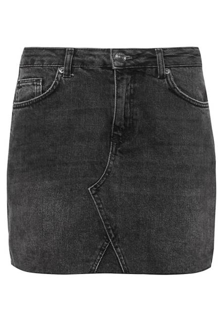 Urban Outfitters: Jeansrock - black