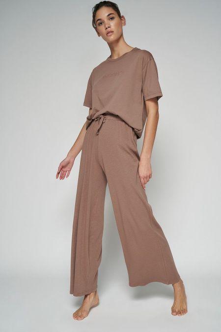 NU-IN: 100% Organic Cotton Natural Dye Ribbed Pyjama Bottoms