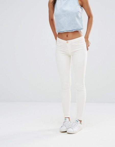 River Island - Weiße, enge Jeans - Weiß