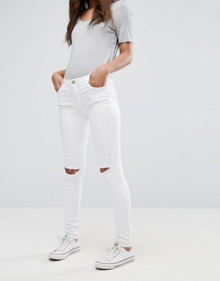 Glamorous - Enge Jeans - Weiß