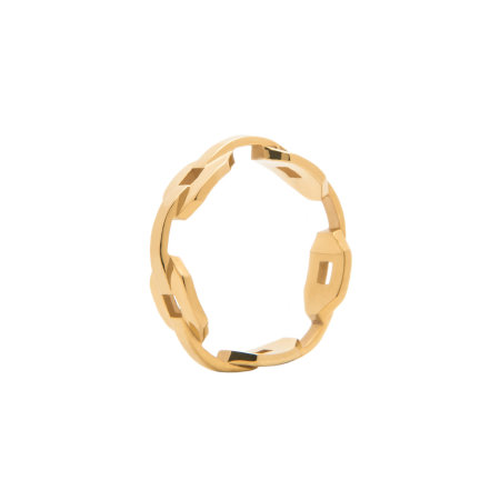 blue billie: Chain Ring Gold Plated