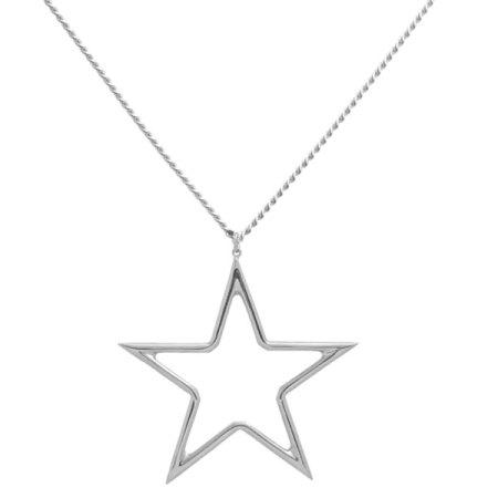 blue billie: Big Star Necklace Silver