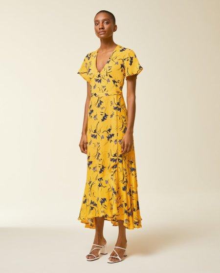 IVY & OAK: Volant Kleid mit Blumenprint