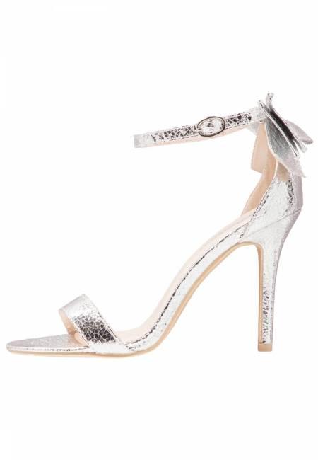 Glamorous: High Heel Sandaletten - silver