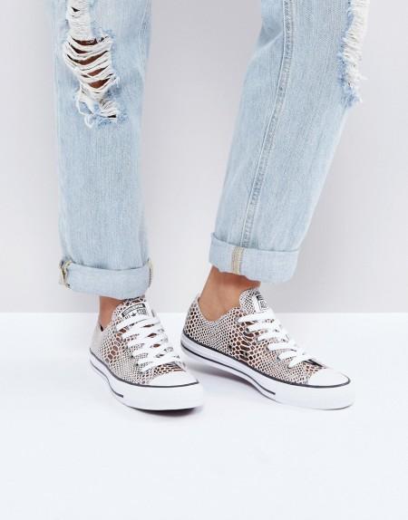 Converse - Chuck Taylor All Star - Sneaker in Braun mit Schlangenmuster - Braun