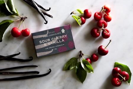 Pana Chocolate Sour Cherry & Vanilla 45 gram Bar