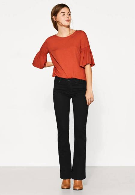 edc by Esprit: Jeans Bootcut - black rinse