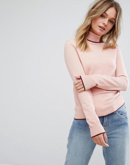 Vero Moda - Rollkragen-Pullover - Rosa
