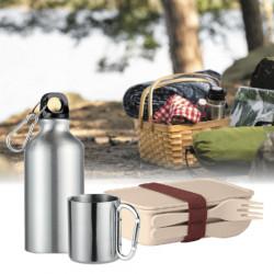 Utflyktspaket med matlåda, mugg och vattenflaska