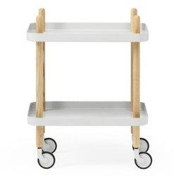 Block bord, ljusgrå