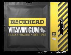 BLOCKHEAD VITAMIN CHEWING GUM - Lemon 10st