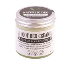 Naturlig Deo- Ekologisk FOOT DEO Cream Citrus & Patchouli 60 ml