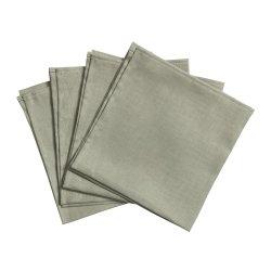 Clean linneservetter 45x45 cm 4-pack, dusty green