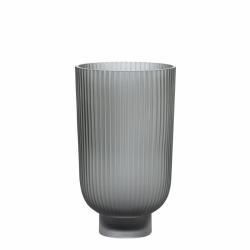 Hermona vase H23 cm. smoke