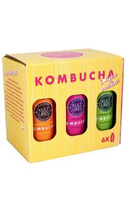 6 Pack Kultures Kombucha (6x400ml, 4 smaker)