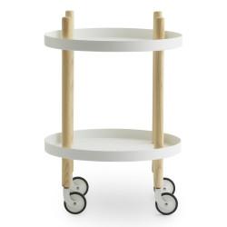 Block bord Ø45 cm, Vit