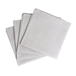 Clean linneservetter 45x45 cm 4-pack, icy grey