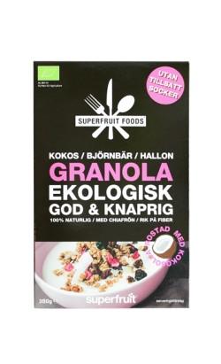 Granola - Kokos Björnbär Hallon - 350g EKO