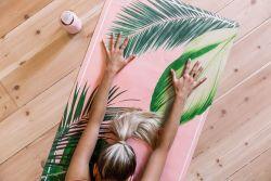 Eco friendly Yoga Mat: Botanical Pink 3,5 mm thick
