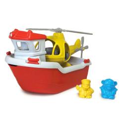 Räddningsfartyg med helikopter