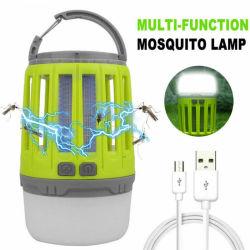 Myggdödare – ledlampa uppladdningsbar vattensäker 2 in 1