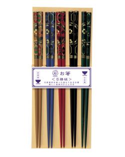 Susutake-Komon 5 par ätpinnar Kawai Japansk dekor