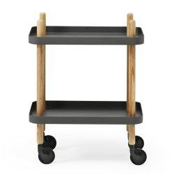 Block bord - mörkgrå