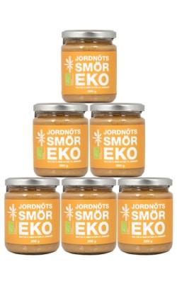 Jordnötssmör Crunchy 250g - EU EKO (6 Pack)