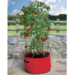 Odlingsäck för tomat med växtstöd