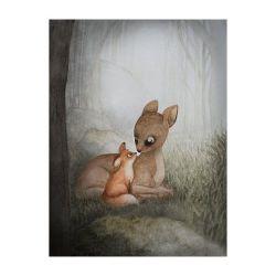 Print för barnrum 50 x 70 cm, Rut och Idun