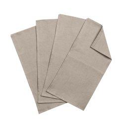 Clean linneservetter 45x45 cm 4-pack, sand