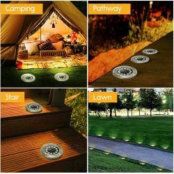 Spotlights med solceller för trädgård 4-pack