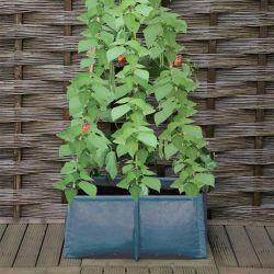 Odlingssäck med plats för växtstöd