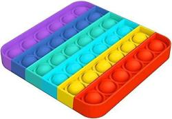 Popit Fidget Rainbow fyrkant