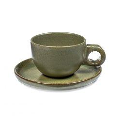 Surface kaffekopp med fat 13 cl, Camogreen