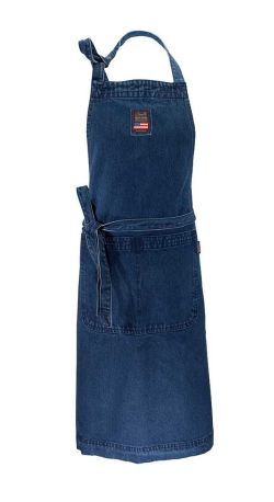 Denim förkläde blå