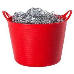 Tubtrug:s Gummikorg 38 liter, Röd