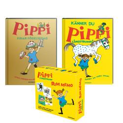 3 x Pippi Långstrump av Astrid Lindgren