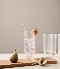 Ferm Living Ripple Long Drink glas 4-set