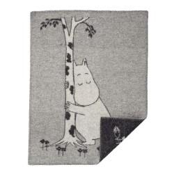 Barnfilt moomin tree hug, klippan yllefabrik
